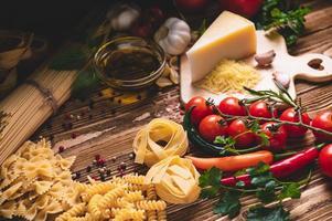 ingredientes da cozinha italiana foto