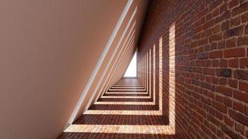 um 3d rende do túnel da forma do triângulo