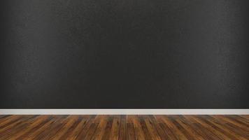 parede pintada de preto nua