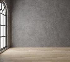 quarto vazio estilo loft com concreto bruto
