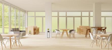 espaço de trabalho conjunto, conceito aberto 3d render