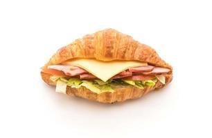 tiro de sanduíche de croissant