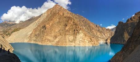 lago attabad no vale de hunza, paquistão foto