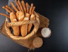 pão em uma cesta