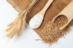 ingredientes de farinha e trigo para assar