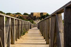 ponte de madeira marrom foto