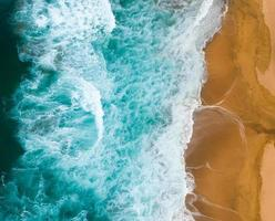 foto da vista superior do oceano