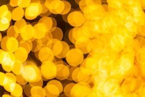 bokeh luz colorida amarela foto