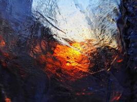 reflexão abstrata colorida