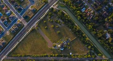 vista aérea da estrada foto
