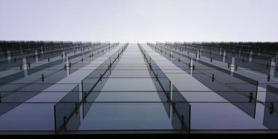 vista abstrata do edifício arranha-céu e céu