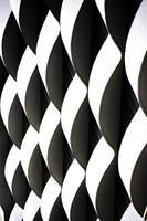 têxtil preto e branco