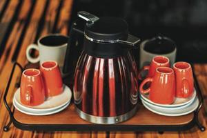 conjunto de cafeteira