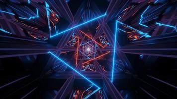Triângulos de espaço ilustrado em 4k uhd