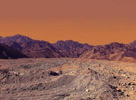 campo colorido deserto foto