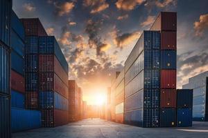 contêiner de carga porto estaleiro