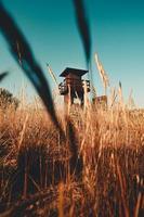 torre do salva-vidas na praia foto