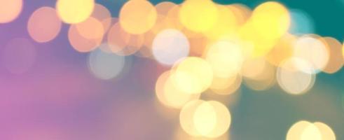 luzes bokeh coloridas abstratas foto