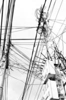poste de cabo elétrico foto