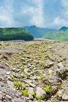 vulcão merapi na ilha de java, na indonésia