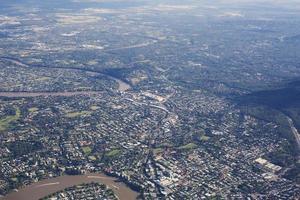 vista aérea do subirbs foto