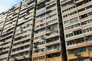 prédio de apartamentos em hong kong foto