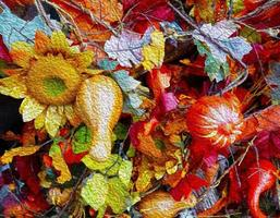 decoração de outono foto
