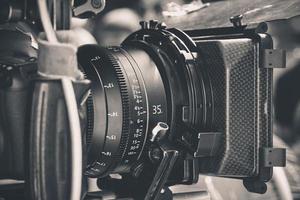 câmera de vídeo digital profissional foto