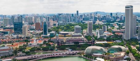 Singapura da baía da marina foto