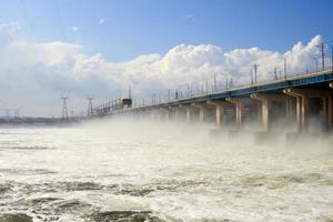 reposição de água em usina hidrelétrica