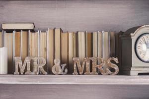 """assinar para o casamento """"sra"""" & """"mr"""" foto"""