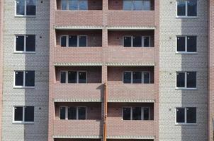 elementos de um novo edifício residencial foto