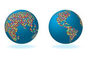 conjunto global com série de mapas foto
