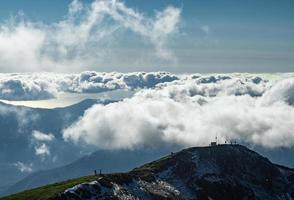 as montanhas de krasnaya polyana foto