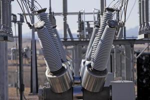 estação de energia elétrica externa foto