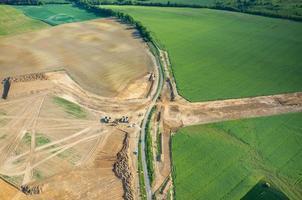 estrada em construção