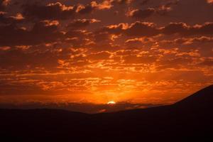 nascer do sol da montanha