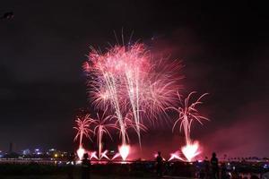 festival de fogos de artifício colorido no rio foto