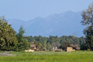 área remota em terai, bardia, nepal