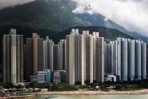 edifício residencial em hong kong foto