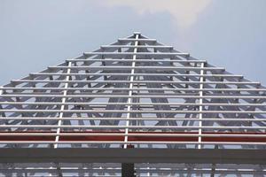 enquadramento de construção de novas casas. foto