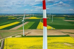vista aérea dos moinhos de vento