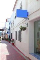 ruas de vila mediterrânea de moraira teulada foto