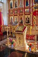 interior do templo ortodoxo, cidade suzdal, rússia foto