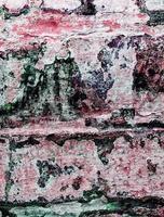 parede de tijolos antigos foto