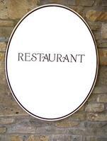 sinal de restaurante foto