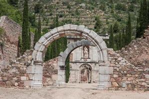 ruínas de scala dei, um mosteiro medieval ou casa de aluguel foto