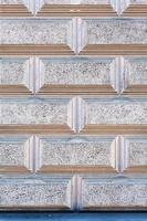 fachada de parede de blocos antigos