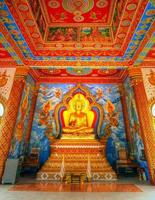 novo templo budista, vientiane, laos foto