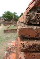 textura de tijolo velha foto